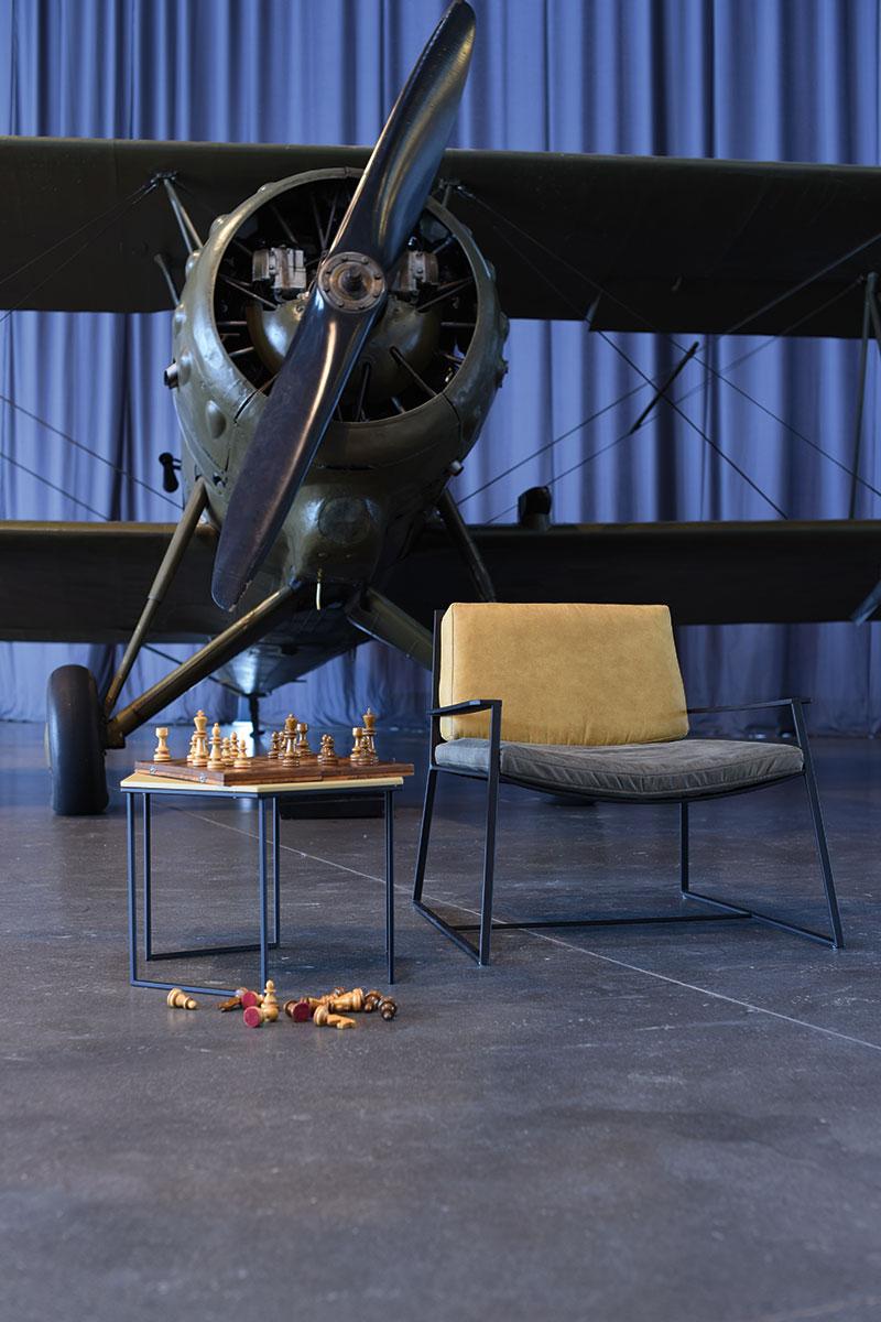 Solik i fotel MARCONI w wersji zółtej